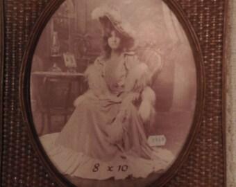 """Vintage Basket Weave Picture Frame 8"""" x 10"""""""