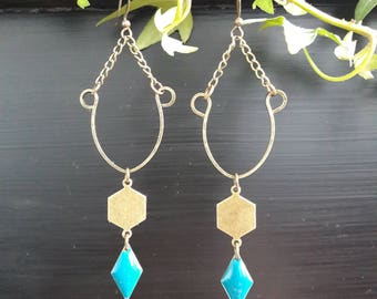 Handmade jewelry, earrings, gift for women, gift for them, geometric jewelry