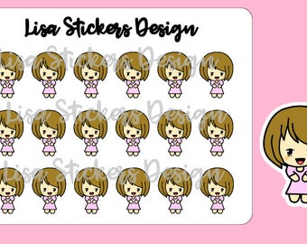 Happy Girl - Planner Stickers (M001)