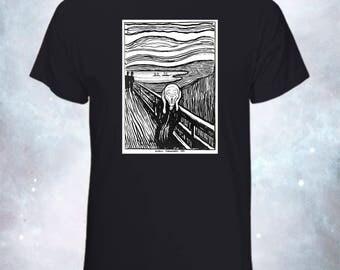 The Scream Munch - T-Shirt - Halloween T-Shirt - Halloween Gift - Wearable Art - Cool T-Shirt - Cool Gift - Graphic Tee - Artistic T-Shirt