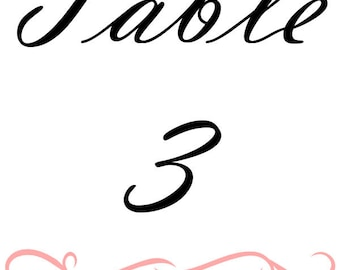 Table Numbers Wine Bottle Label
