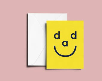 Dad Smiley - Father's Day Card