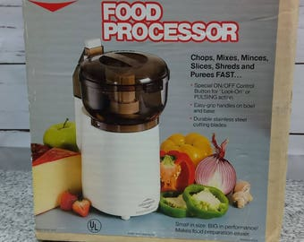 West Bend Vintage Food Processor 6491 in Original Box