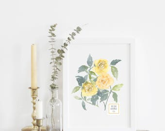 Roses in Yellow - With or Without Frame