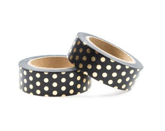 Gold foil washi tape with dots