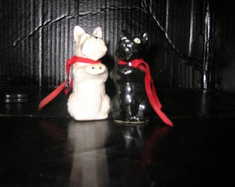 Black and White Scottish Terrier Salt and Pepper Shakers