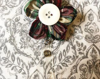 Flower Badge with Reel