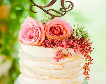Letter H Cake Topper Gold Monogram Wedding Cake Topper Initial Cake Toppers Cake topper H Cake Topper Letter A C E F H J K L M N O P Q R Z O