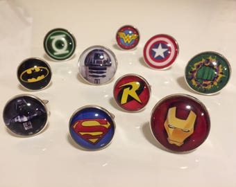 Superhero Lapel Pin, Superhero Pins, Superhero Tie Tacks