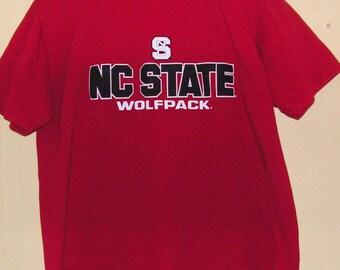 90s N C State North Carolina Wolf Pack  University  size Large  NCAA  college football dorm frat Vintage