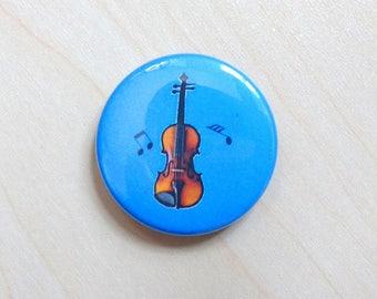 "Violin / Viola in Blue 1.5"" Magnet  - Gift for Musician, Gift for Music Teacher, Orchestra magnet"