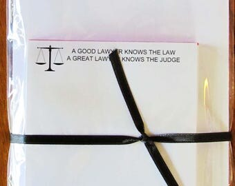 Notepad - A Great Lawyer Knows the Judge