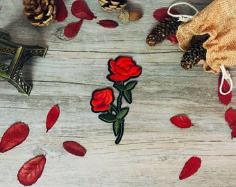 roses patch-iron on patch-flower patch-embroidered-patch for jacket -for backpack