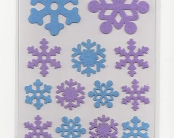 17 x Stickers flakes felt stickers Scrapbooking Project life cards
