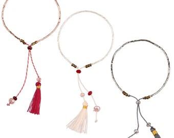 Bohemian style tassels and Beads Bracelet