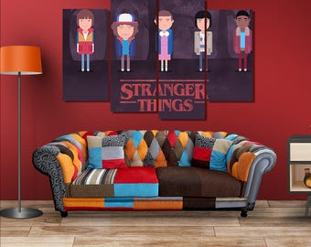 Stranger Things Poster Canvas Wall Art Wall Decor Framed Wall Art Home Decoration Large Canvas panels stretched room