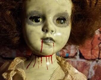Horror doll, Zombie doll, OOAK doll
