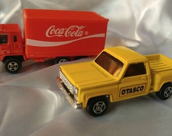 Vintage Advertising Die Cast Truck Toys Otasco and Coca Cola 1/64th scale