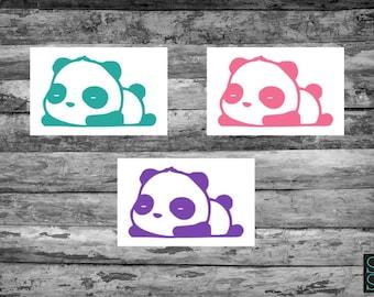 Bored panda decal, sleepy panda decal, lazy panda decal, tired panda decal