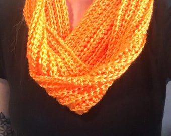 Crochet Scarf - Orange
