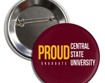 Proud Central State University Graduate Pin