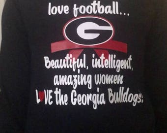 Georgia Bulldog Monogrammed Long Sleeve T-Shirt