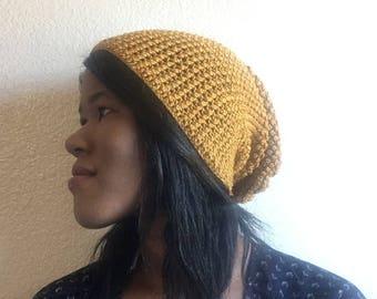 Yellow Crochet Beanie Hat, Handmade Crochet Hat, Handmade Crochet Beanie, Yellow Crochet Hat, Yellow Slouchy Beanie, Yellow Hat