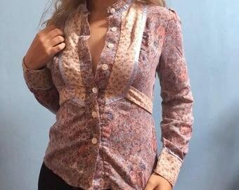 Vintage hand remastered floral blouse
