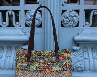 raffia and raffia bag with trapilho trapilho bag