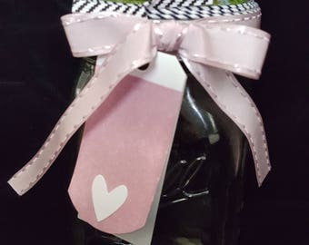 Mason Jar Gift Container--Hand made Diorama for New Baby Girl
