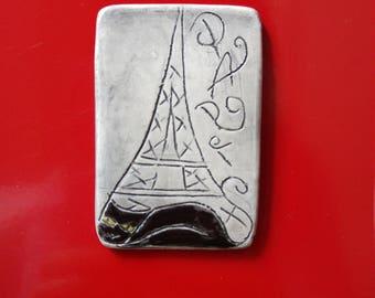 Ceramic Paris souvenir magnet