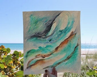 Sea Breeze Abstract Painting