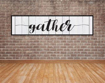 Gather Sign, Gather Vector, Cuttable, SVG, Vinyl, Sticker, Digital File, DXF, Scalable, Print, Cut File, Silhouette Cameo