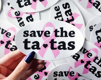 Save the Tatas Vinyl Sticker