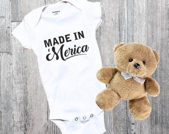 4th of july baby etsy made in merica baby shirt infant bodysuit newborn custom baby shirt baby shower negle Gallery