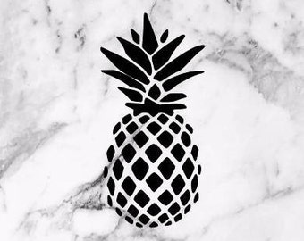 Pineapple Vinyl Decal, pineapple decal, holographic decal, window decal, yeti decal, window sticker
