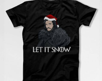 Christmas Quote T Shirt Let It Snow Shirt Holiday Present for Him Christmas Humor Gift Ideas For Men Xmas Present Holiday Season TEP-639
