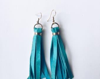 Turquoise fringe tassel