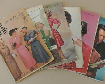 FASHION VINTAGE MAGAZINES / Libelle / journal de la femme / 6 issues /1953-59