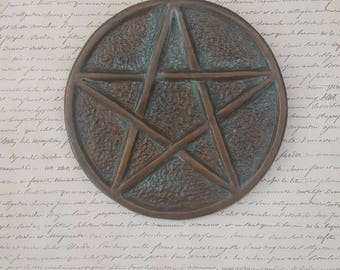 Pentagram wall art, Pentacle, Celtic, Protection, Supernatural, Pagan, Wicca, Wiccan home decor, Witch, Ceramic, Unique gift, Gothic decor
