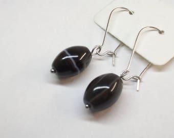 Banded agate earrings