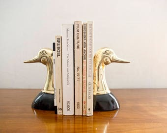 Brass Duck Mallard Bookends