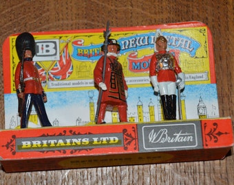 Vintage Britains toy soldiers in original display packaging