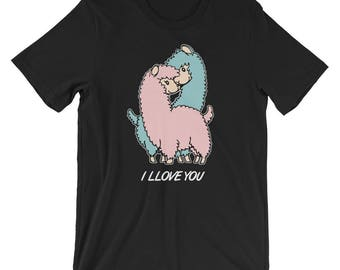 Llama Valentines Day Shirt | I LLOVE YOU Funny Llama T-Shirt UNISEX Cute Llama Alpaca Tee Valentines Day Gift for her and him