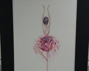 Bloom Original Watercolor Print, Wall Art