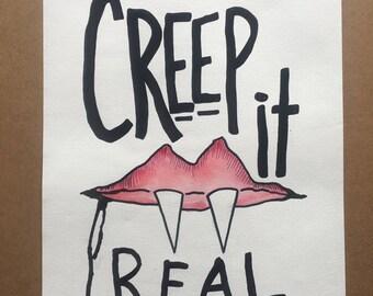 Creep it Real Watercolor