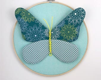Butterfly Individual Wall Hanging - Teal
