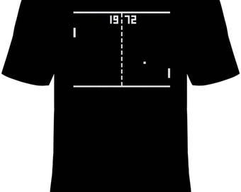 Pong Atari 1972 T-Shirt Unisex Cotton Adult Sizes Video Game Retro Tennis New
