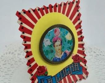 Frida Kahlo Azul brooch