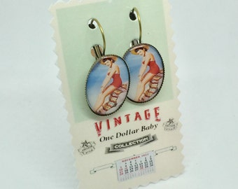 Mexican pinup earrings